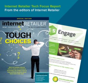 Internet Retailer Tech Focus Report cover page July 2017